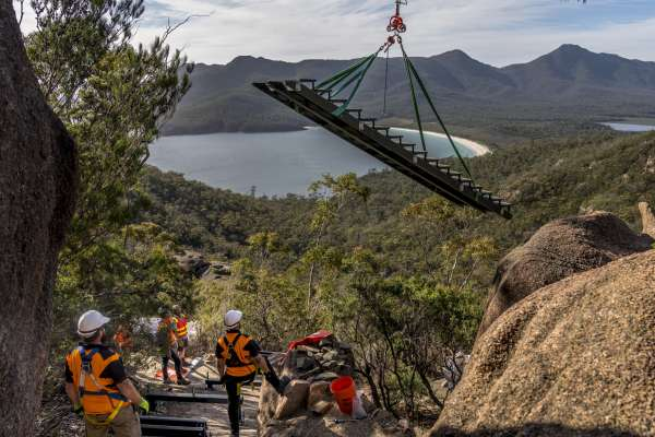 CPT Wineglass Bay large stair installation
