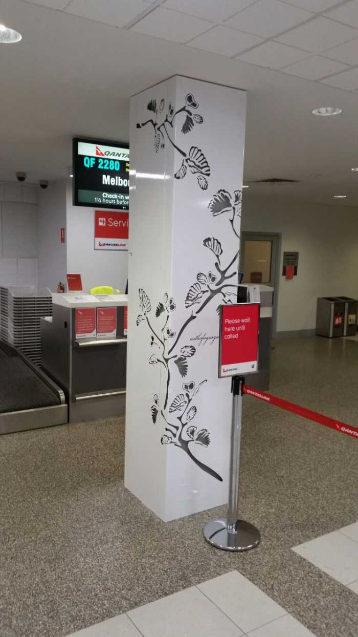 AIRPORT COLUMN COVER INSTALLED